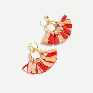 J Crew Fabric fan earrings NWT